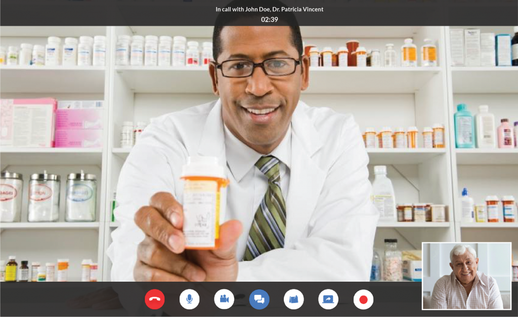 Example of how a HIPAA compliant telepharmacy video consultation can look like